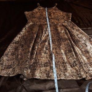 Soprano Dresses - Gold Sleeveless Skater Dress Worn Once